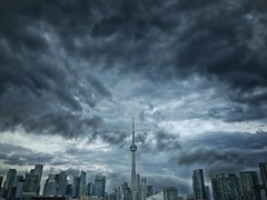Stormfront (@ThetaState) Tags: stormclouds cityscape buildings urban city downtown cntower weather clouds rain storm canada ontario toronto april 2017