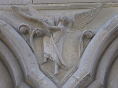 Trumpeting Angel (Aidan McRae Thomson) Tags: worcester cathedral worcestershire medieval sculpture carving relief