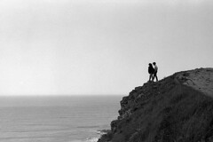 Ocean (maxfloriat) Tags: ocean normandie bw blackandwhite carteret horizon leicam6 kodak summucron 50mm france