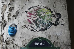 Gregos + Nemi UHU_3083 passage des Abbesses Paris 18 (meuh1246) Tags: streetart paris animaux poisson gregos buttemontmartre paris18 passagedesabbesses nemiuhu
