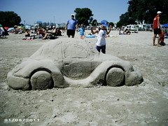 SANDCASTLE FESTIVAL, COBOURG (bitemeasshole69) Tags: people sculpture ontario castle beach car festival bug volkswagen children fun sand beetle shoreline sandbar competition august artists designs annual lakeontario spectators 53 herbie talented lovebug funinthesun longweekend civicholiday simcoeday sandcastlefestival 5starbeach