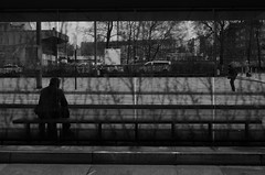 2012/04/12 (Raphael Zydek) Tags: life trees light people white black bus window station museum architecture train concrete waiting alone sitting shadows background human there hurry unsharp chemnitz