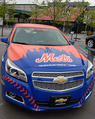 Mets Chevy (front view) (paul.hadsall) Tags: newyork car baseball chevy mets newyorkmets citifield