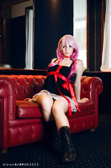 Inori - Guilty Crown (YurikoTiger.com) Tags: pink hot anime cute love beautiful japan hair japanese tokyo cool model italian perfect cosplay tiger manga wig idol kawaii crown akihabara cosplayer otaku yuriko guilty    supercell yuzuriha fumettopoli   inori  cosmode  nicecosplay yurikotiger   cosgen yurikotigercom