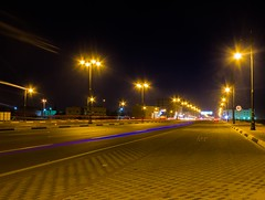 Street of  light -    (! FOX) Tags: street light canon eos fox ahmad panning ahmed   a7mad a7med        al5ain 5ain 7d