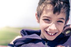 Having Fun (Ben Gomes) Tags: blue boy portrait white green nature yellow kid cool child blond