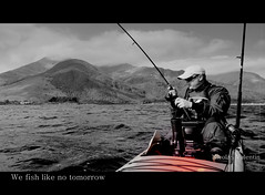 We fish like no tomorrow (Nicolas Valentin) Tags: sea scotland kayak loch hooked ecosse lochleven catchingafish nicolasvalentin kayakscotland kayakfish