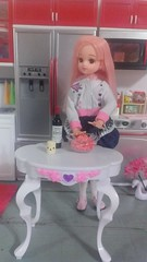 1/7 cooking with love (royalhearts) Tags: hello pink cooking kitty ment re pure licca rilakkuma neemo azone