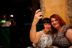 Self Portrait (Dave G Kelly) Tags: barcelona camera travel vacation holiday selfportrait spain holding women dress posing catalonia espana smartphone takingapicture twowomen traveldestinations 2013