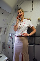Emirates flight attendant (Osdu) Tags: girl lady inflight cabin women uniform emirates crew airbus hostess stewardess unitedarabemirates a340 flightattendant emiratesairlines airhostess stewardes hôtessedelair