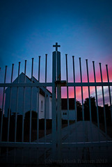 IMG_7302 (Nanna Munk) Tags: sunset church colors beautiful denmark cross tolne