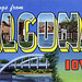 Greetings from Algona, Iowa - Large Letter Postcard