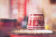 Coldstone (Proleshi) Tags: red reflection cup glass 50mm nikon bokeh icecream coldstone josephs jamal creamery 50mm14afs proleshi