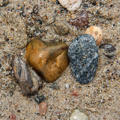 HeartofGold_7357s (WalrusTexas Offline) Tags: texture beach stone sand santamonica earthtone