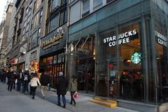 STARBUCKS (koborin) Tags: nyc newyorkcity travel ny newyork manhattan 5thavenue midtown starbucks fifthavenue 5thave east35thstreet