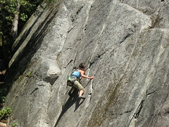 Nat climbs a 10b at Tunnel Rock (Ruth and Dave) Tags: cliff rock nat route climbing granite climber squamish provincialpark crag smokebluffs 510b tunnelrock