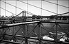 Manhattan (nigelrumsey) Tags: bw usa newyork film 35mm kodak trix hc110 brooklynbridge manhattanbridge iso1600 leicam6 underdeveloped 2013 nigelrumsey wwwnigelrumseycom