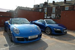 Beautiful in Blue (ANB | Automotive) Tags: sheffield 911 porsche audi v10 cabriolet r8 991