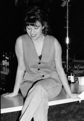 Brave New World Club Philadelphia B&W May 1995 027 Charming Lady (photographer695) Tags: world new bw moon philadelphia lady club may full brave 1995 035