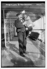 Anna De Jong & Fred. Biesmans  (LOC) (The Library of Congress) Tags: shadow man girl standing uniform child refugee moustache deck laugh giggle libraryofcongress mustache tickle flemish xmlns:dc=httppurlorgdcelements11 dc:identifier=httphdllocgovlocpnpggbain20645
