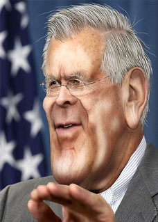 From http://www.flickr.com/photos/47422005@N04/9600641728/: Donald Rumsfeld - Cariacture