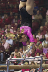 PowerofPink_31_Auvil (Shannon Auvil) Tags: pink college sports bars alabama cancer gymnast gymnastics fundraiser ua cancerresearch universityofalabama alabamacrimsontide unevenbars powerofpink collegegymnastics