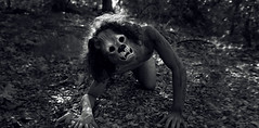 """""""The Lion King"""" (Kavan The Kid) Tags: portrait bw white black art strange photoshop self naked outdoors photography book scary king mask unique lion eerie photograph jungle edgar indie imagination eccentric 365project enstine"""