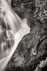 Where water meets rock (Christos Andronis) Tags: blackandwhite water rock closeup contrast flow austria waterfall energy strength cascade krimml rushingwater krimmlerwaterfalls