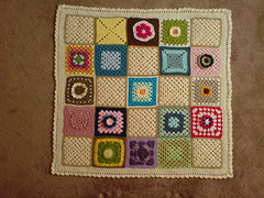 562 'Fruity Flapjack' -  With thanks to Tinaspice for assembling and everyone for the Squares. (MRS TWINS/SIBOL 'Sunshine International Blankets) Tags: squares elderly blankets crocheted sibol