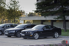 German VS USA (SERBIACARFAN) Tags: usa ford muscle serbia german mustang belgrade 50 audi luxury beograd a6 srbija