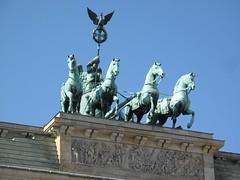 Victory with Quadriga, Brandenburg Gate (Charlie Phillips) Tags: horses berlin bronze germany mural gate cross eagle victoria victory frieze quadriga brandenburg