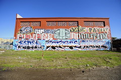 RENEK, SANGRE, SNEK, ORACLE, PLZR, BUER, GATS, JEST, PAYNT, REVEREND, MUTINY (STILSAYN) Tags: california graffiti oakland bay oracle reverend east area sangre plzr jest mutiny snek gats buer 2013 renek paynt