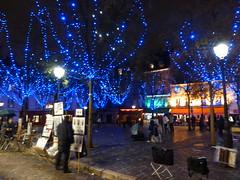 Paris balad bynight: place du Tertre (valkiribocou) Tags: paris balade baladeparisienne serrisbalad randobalade