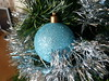 Christmas Bauble (CalamityCam 2011) Tags: christmas blue tree tinsel bauble 113picturesin2013