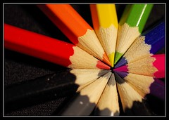 Macro Rainbow (4/365) (J-o-h-n---E) Tags: macro closeup pencils rainbow colours rainyday 11 365 awps sigma70mmf28exdgmacro sigma70mmmacro aperturewoolwich pentaxk30