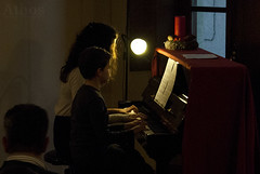 """""""Christmas Sage"""" students' sage (The girl with the dress) Tags: christmas music evening piano sage musicalinstitutellessona studentssage"""