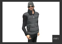 sharp by [ZD] - Mesh Quilted Gilet (shine & sharp by [ZD]) Tags: life urban man male men fashion by demo cool shine dress place mesh market feather down sharp sl dresses second quilted mann marketplace mp mode gilet mnner jacke kleidung menswear kleid mnnlich zd inworld daunenweste steppweste zddesign