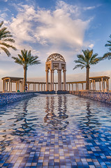 The Dome (Muhammad Al-Qatam) Tags: blue sunset sea sky orange water clouds landscape nikon angle 5 wide pro kuwait hdr kuwaitcity d300 photomatix sigma1020mmf35 malqatam muhammadalqatam coverscomp
