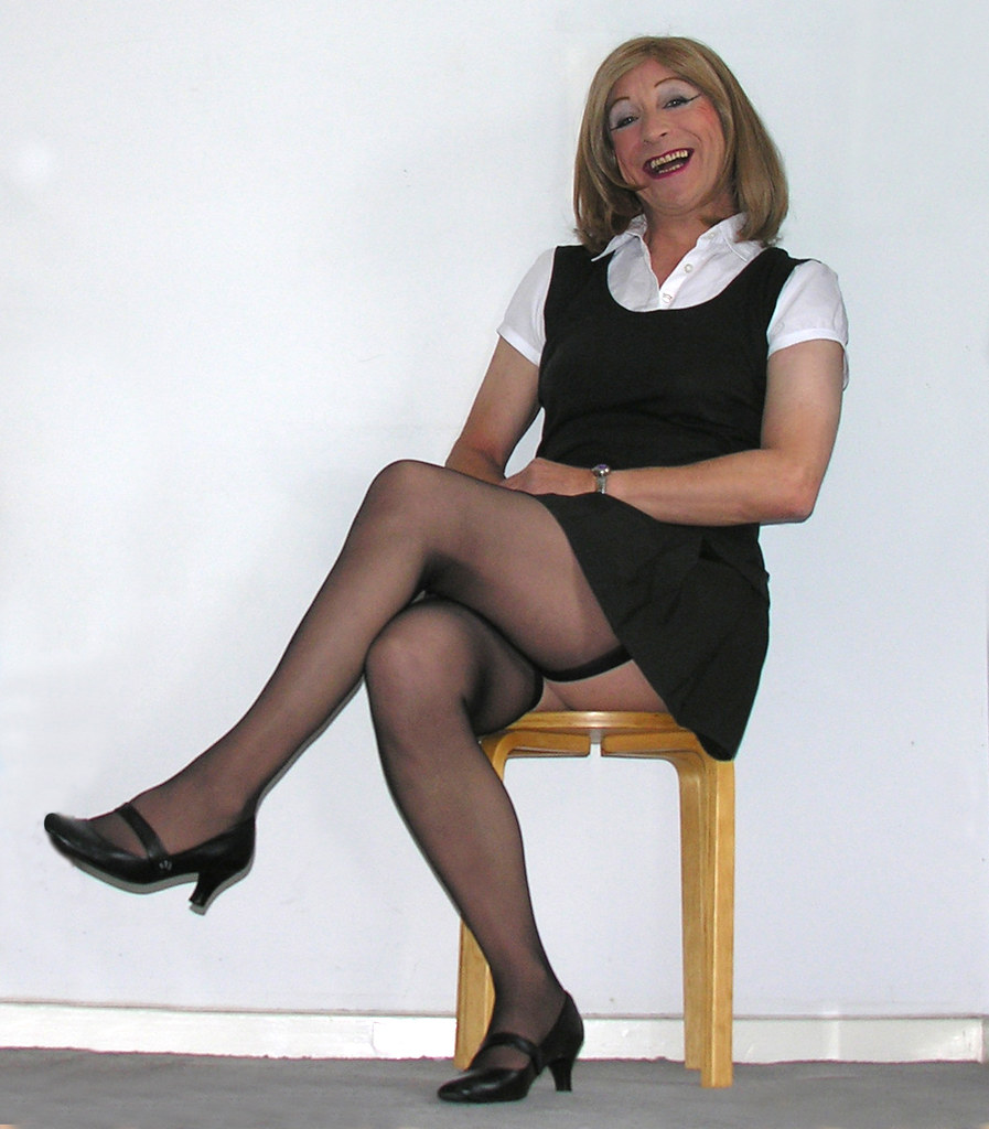 girl black uniform sex
