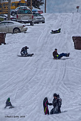 Winter on Main Street  (Bobsledding?) (jackalope22) Tags: winter peru fun main sledding sled