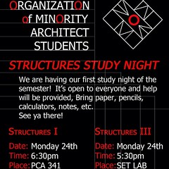 "Structures Review Session is this evening! 5:30 for Structures lll and 6:30 for Structures l, see you there! • <a style=""font-size:0.8em;"" href=""http://www.flickr.com/photos/109776203@N02/12755722863/"" target=""_blank"">View on Flickr</a>"