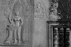 Apsara in Interior Left Side Wall Angkor Wat (Patumraat) Tags: world old travel holiday gambling building tourism beautiful architecture angel wonder thailand temple ancient cambodia heaven vishnu dancing image god religion goddess ruin culture buddhism fortune relief siem thom classical civilization shape angkor wat hindu bas apsara asean reise reab khmehr