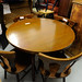 Oak stained oval table with 4 chairs
