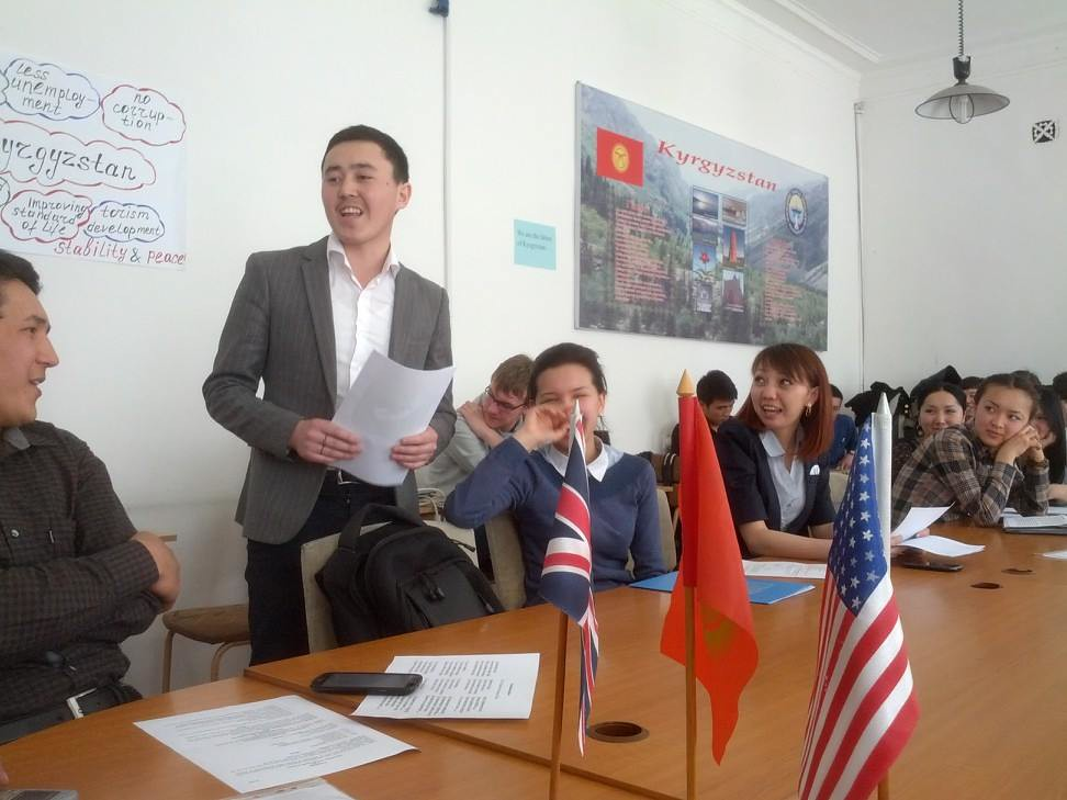 Spence - Roundtable at Economic University, Kyrgyzstan