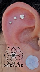 """Triple flat piercings • <a style=""""font-size:0.8em;"""" href=""""http://www.flickr.com/photos/122258963@N04/13611596904/"""" target=""""_blank"""">View on Flickr</a>"""