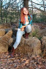 (Megan Boulanger Photography) Tags: portrait nature spring model woods cowboy boots country wilderness springtime