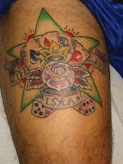 star cards n dice tattoo on skin (tattoos_addict) Tags: dice ski tattoo cards star skin o n tatt startattoo