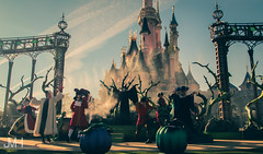 Disney Villains (Jojo_VH) Tags: 2015 captainhook cruella dlp disneylandparis frollo halloween itsgoodtobebad maleficent queenofhearts sleepingbeauty sleepingbeautycastle villain villains castle castlestage characters disney disneycharacter gaston show