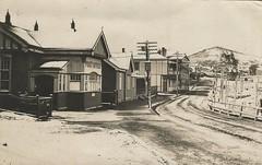 SNOW IN WARATAH, TASMANIA - early 1900s (Aussie~mobs) Tags: snow winter waratah australia vintage streetscape postoffice hotel waratahhotel tasmania railwayline