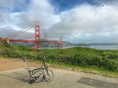 Brommie rambling in SF (Be Steel) Tags: foldingbike brompton goldengatebridge california sanfrancisco